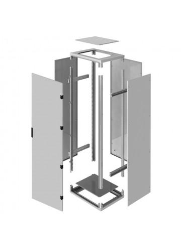 Электромонтажный шкаф напольный из нержавеющей стали серии ШНП