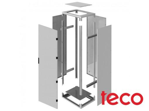 Floor-standing wiring stainless steel cabinet ShNP