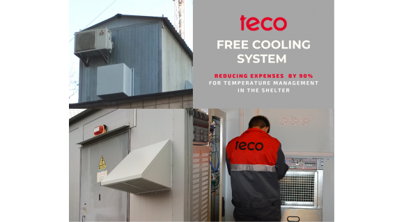 Free Cooling system to reduce shelter operating expenses