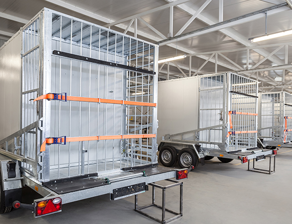 Mobility solution for fast network deployment: COWs with prefabricated mast 12 and 20 m